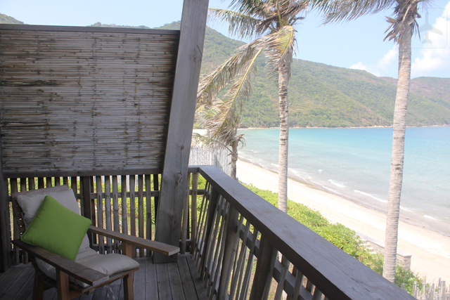 The duplex villa has a balcony where you could lounge and enjoy the soothing sound of the waves.