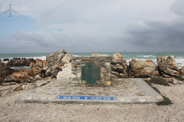 We made a detour to Cape Agulhas, the southern most tip of African continent for a Kodak moment.