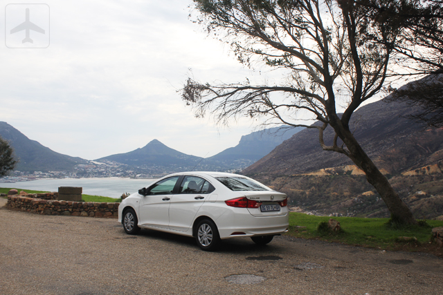 Our Honda Ballade again - this time near Chapman's Peak.