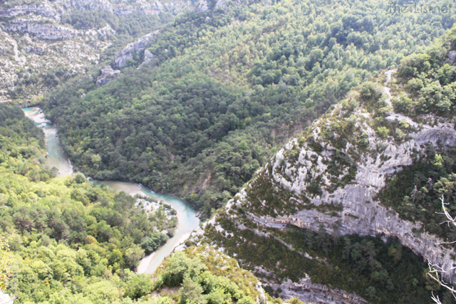 View of the Gorges du Verdon from the top at Point Sublime.