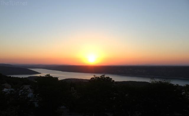 Beautiful sunset at Aiguines
