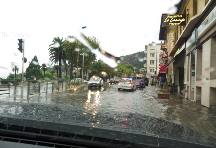 Driving in Nice, South of France