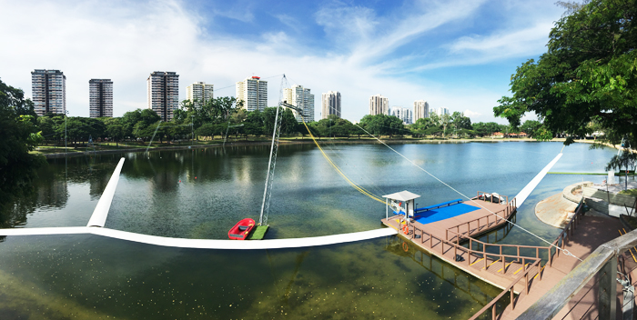 Cable Ski at Singapore Wake Park